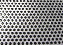 Circle perforation in steel