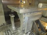 Aluminum fixture after full assembly
