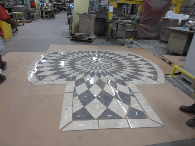 Full view of a tile entry floor design created by FedTech