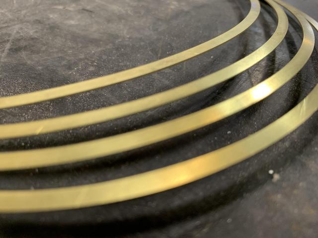 "Waterjet Cutting .020"" Thick Brass"