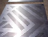 Example of a custom perforated plate