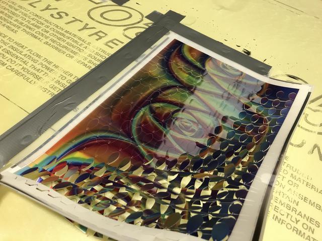 Holographic Sheet Waterjet Cut
