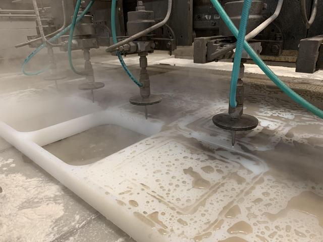 Waterjet & Machining Homopolymer Polypropylene