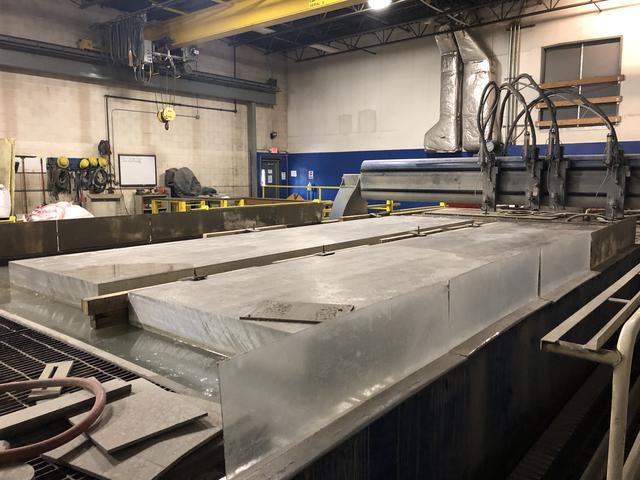 Large Aluminum Waterjet Cutting