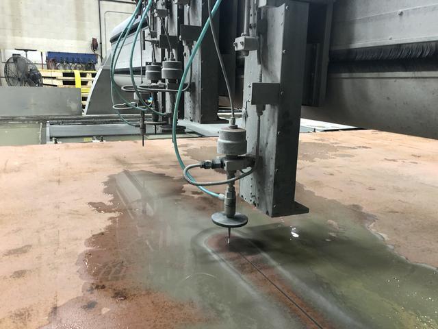 Large Steel Waterjet Cutting