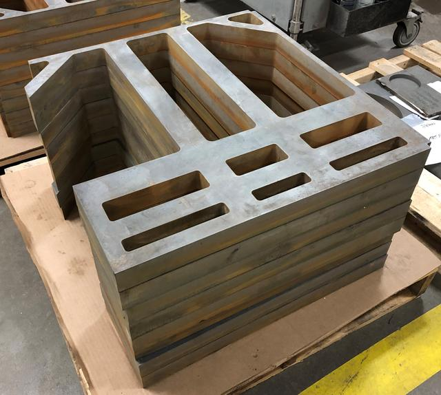 Finished Pieces, 1.75'' thick A572 end plates