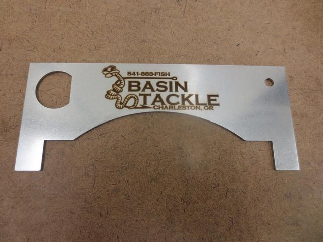 304 SST Laser Cut and Etched