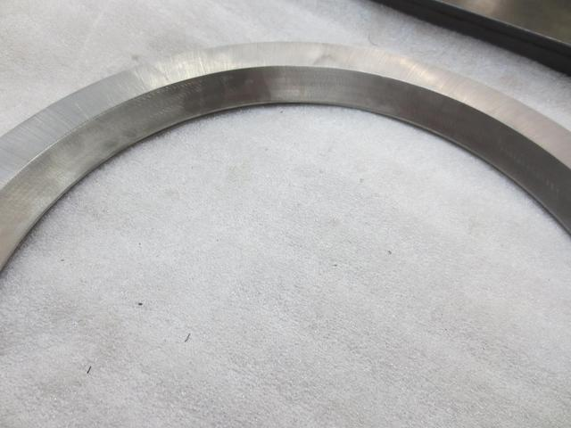 A overhead view of a ring flange bearing