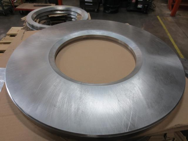 An up-close view of a ring flange seal