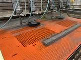 Waterjet cutting custom perforation to exacting tolerances.