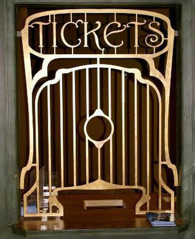 Custom Antique Ticket Window