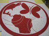 Custom Wisconsin flooring medallion design