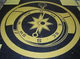 Custom compass flooring medallion design