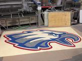 Custom eagle flooring inlay