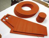 Waterjet cut silicone